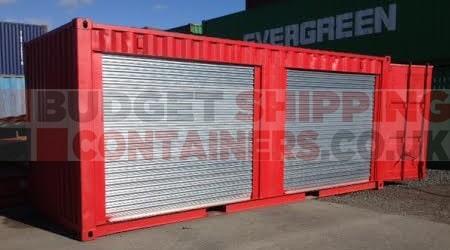 Storage Container Kiosk Market Stall