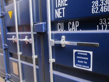 3 locking bar shipping container