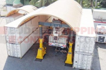 40ft shipping container canopy 12m wide shelter