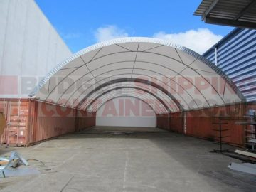 60ft shipping container canopy 20m wide shelter
