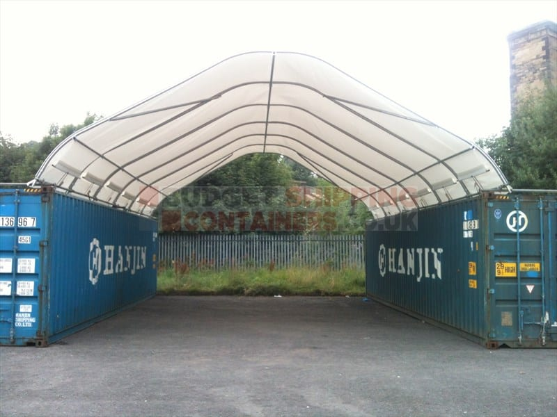Shipping Container Pvc Canopy 40ft 12m Long X 8m Wide