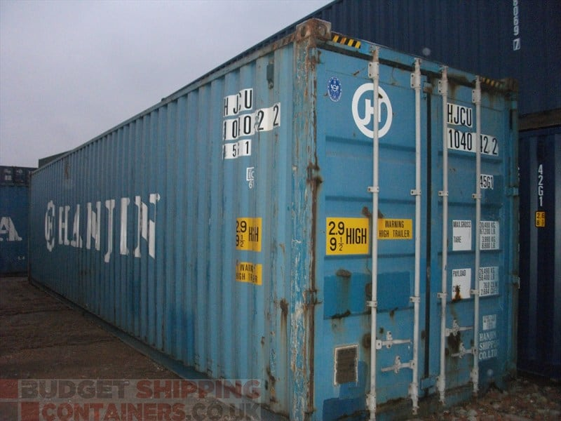 40ft High Cube Shipping Containers Used
