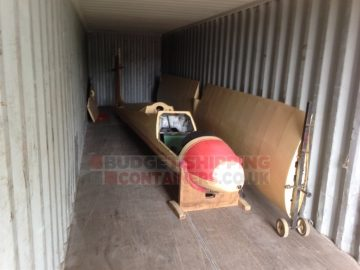 Shipping containers for storage of Gliding equipment