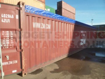 40ft used open top shipping container