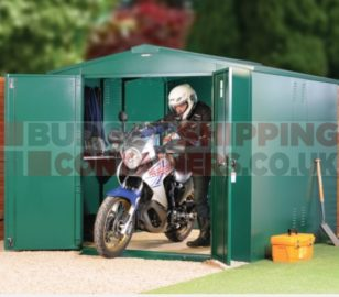 Secure Motorcycle Storage Sheds and Secure Garages for Motorbikes