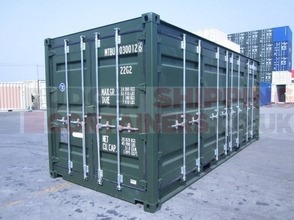 20ft Side Opening Shipping Containers One Trip New