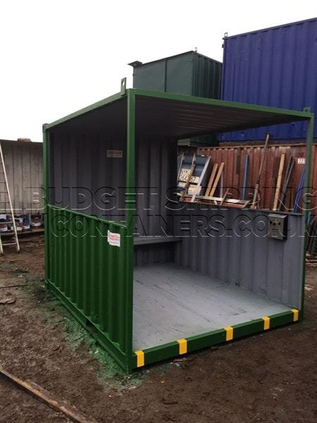 Portable Shelters Containers : Shipping container smoking shelters refurbished
