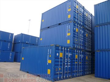20ft High Cube CSC plated shipping container UK
