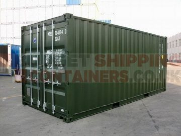 20ft green shipping container