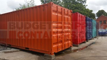 Repainted & Refurbished used 20ft shipping containers