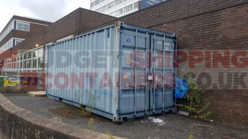 Repurposing an old 20ft Shipping Container in Birmingham