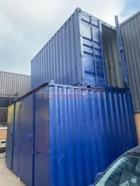 shipping container stacked sideways