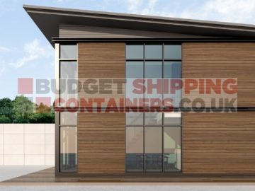 Shipping Container home with cladding