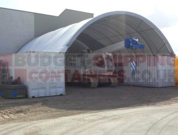 20ft shipping container canopy 10m wide shelter