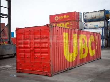 30ft used container in red