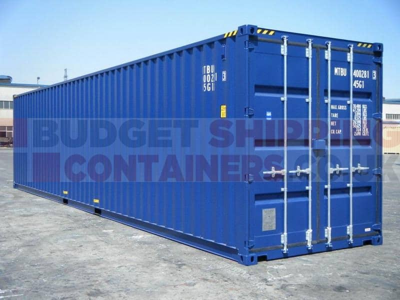 40ft high cube shipping containers new one trip. Black Bedroom Furniture Sets. Home Design Ideas