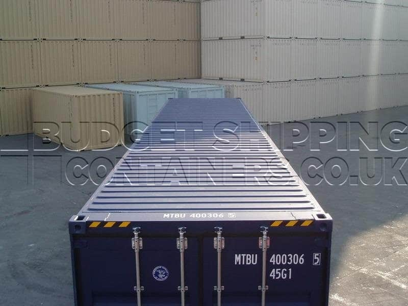 40ft High Cube Tunnel Containers New Double Doors Each End