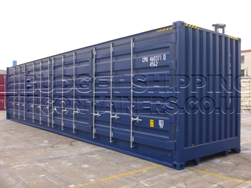 40ft Shipping Container >> 40ft High Cube Side Opening Shipping Containers One Trip New
