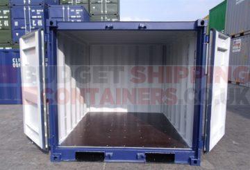 6ft storage container doors open
