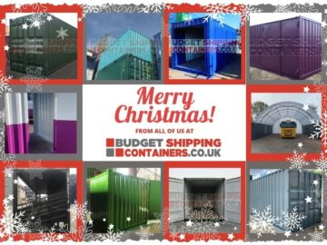 Christmas ecard Budget Shipping containers