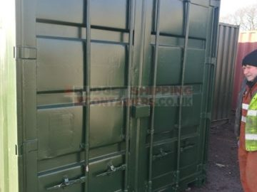 Green 10ft storage container