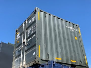 10ft used shipping container before it was converted into a bar