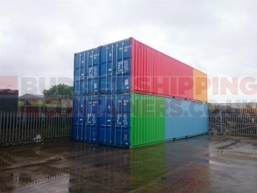 Stacked 40ft Containers