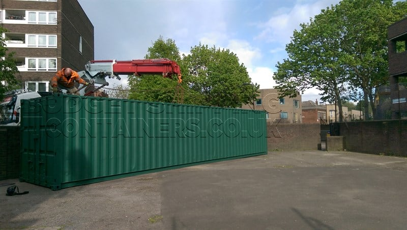 40ft Shipping Container For Cycling Club Hackney