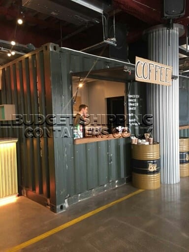 20ft Shipping Container >> Canary Wharf Shipping Container Coffee Shop