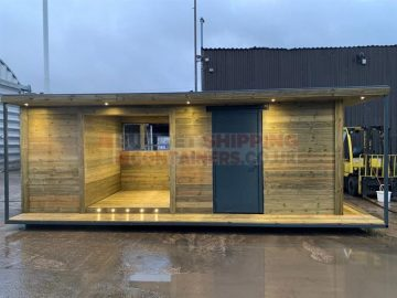 Timber Cladded Shipping Container Jacuzzi Hut