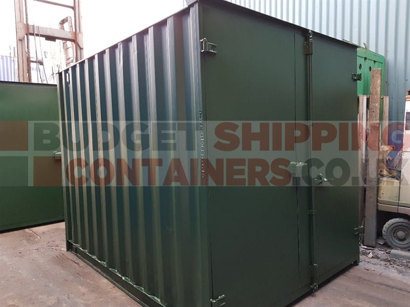 Flat Panel Doors on Refurbished Shipping Containers
