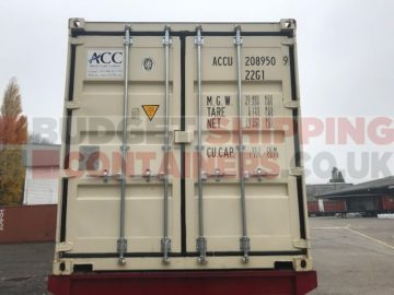 Cargo Doors on Refurbished Shipping Containers