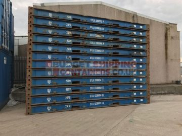 stack of 20ft platform containers for sale