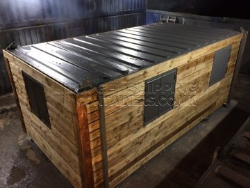 20ft Timber Clad Canteen Container