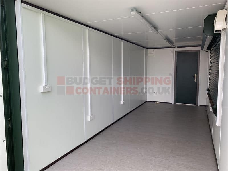 20ft Cladded Catering Pod With Roller Shutter