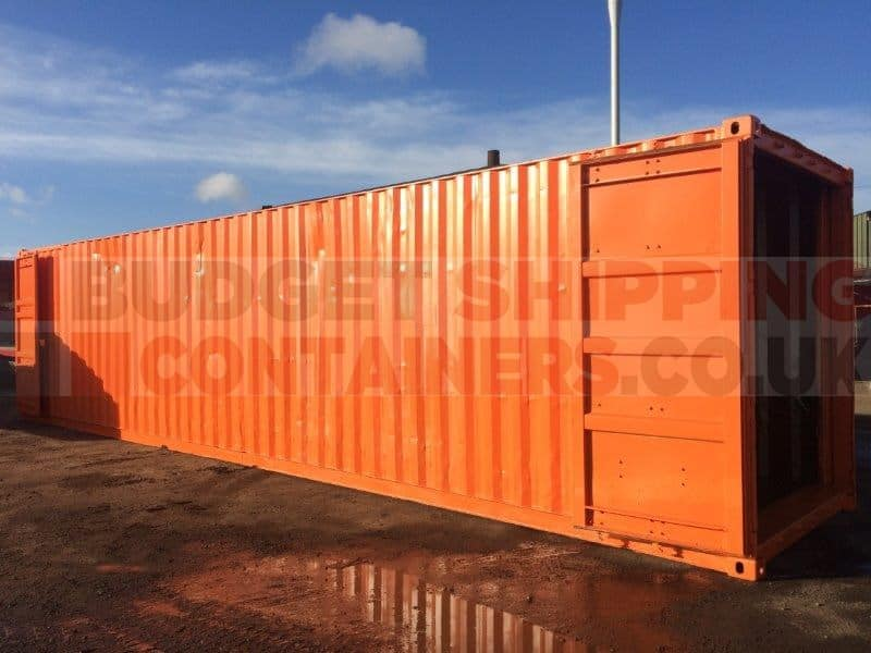 40ft Tunnel Shipping Container (Used/Refurbished Double Doors each end)