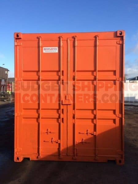 40ft tunnel shipping container used refurbished double doors each end - Shipping container end welding ...