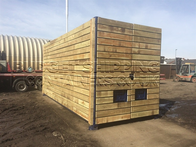 20ft High-Cube Timber Cladded Shipping Container (Manchester)
