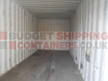 Inside a typical used container