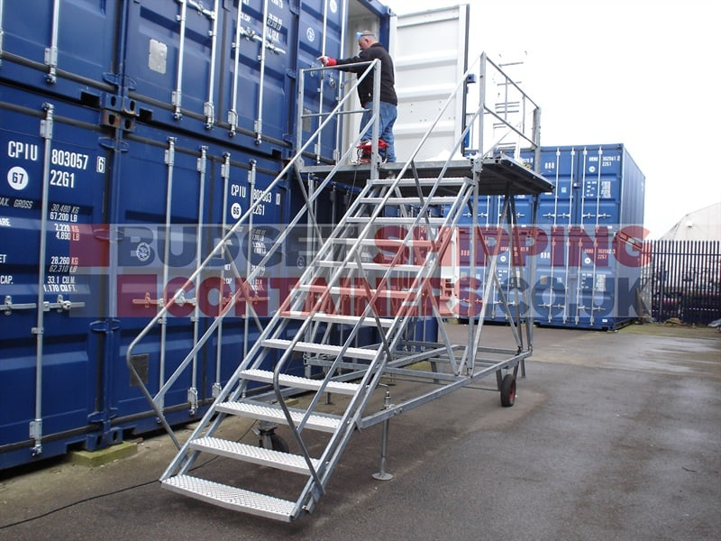 Shipping Container Staircases (Cargo Doors)