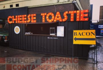 1001 Uses for a Shipping Container #163: An Upcycled Pop Up Toastie Shop!