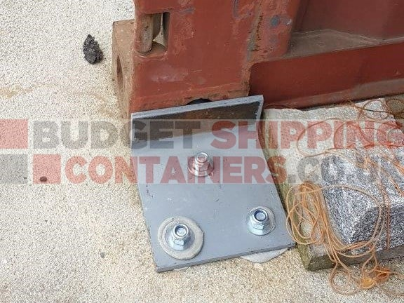Shipping Container Grounding Anchor Brackets