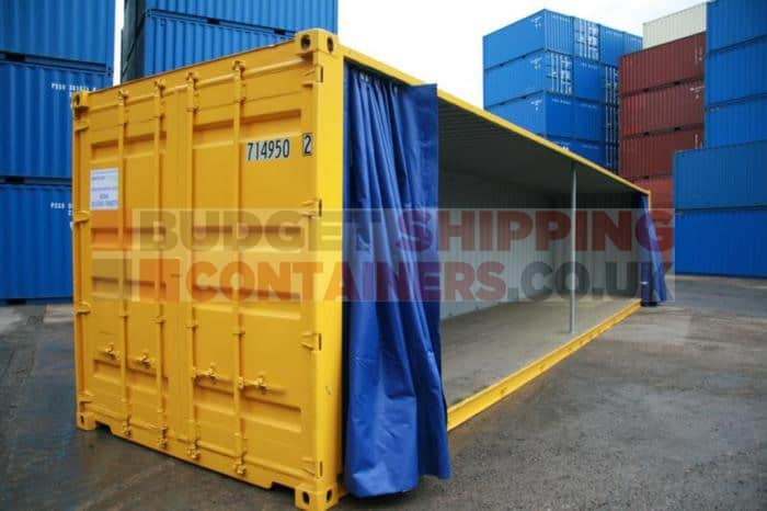 Curtain Sided Shipping Container