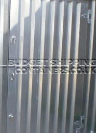 plain galvanised finish on flat pack storage container