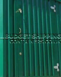 green finish on galvansied storage container