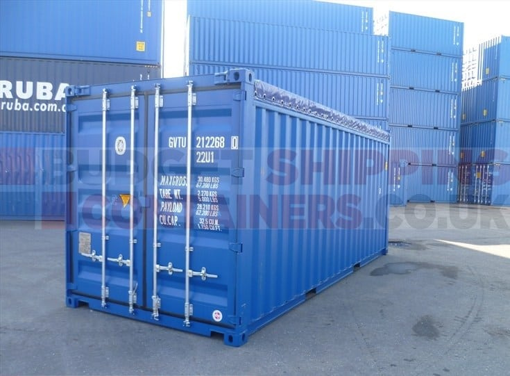 20ft open top shipping containers new one trip. Black Bedroom Furniture Sets. Home Design Ideas