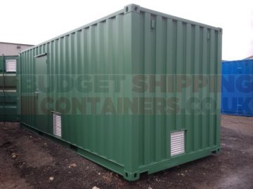 new one trip container with personnel door and extra vents