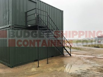 shipping container personnel stairs
