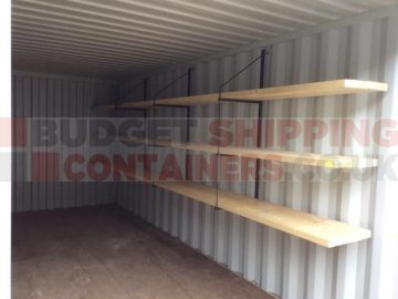 Shelf Brackets and Pipe Racks for your Shipping Container!