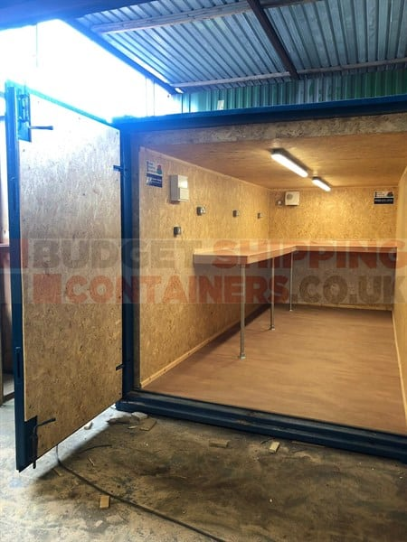 15ft Cladded Shipping Container Workshop